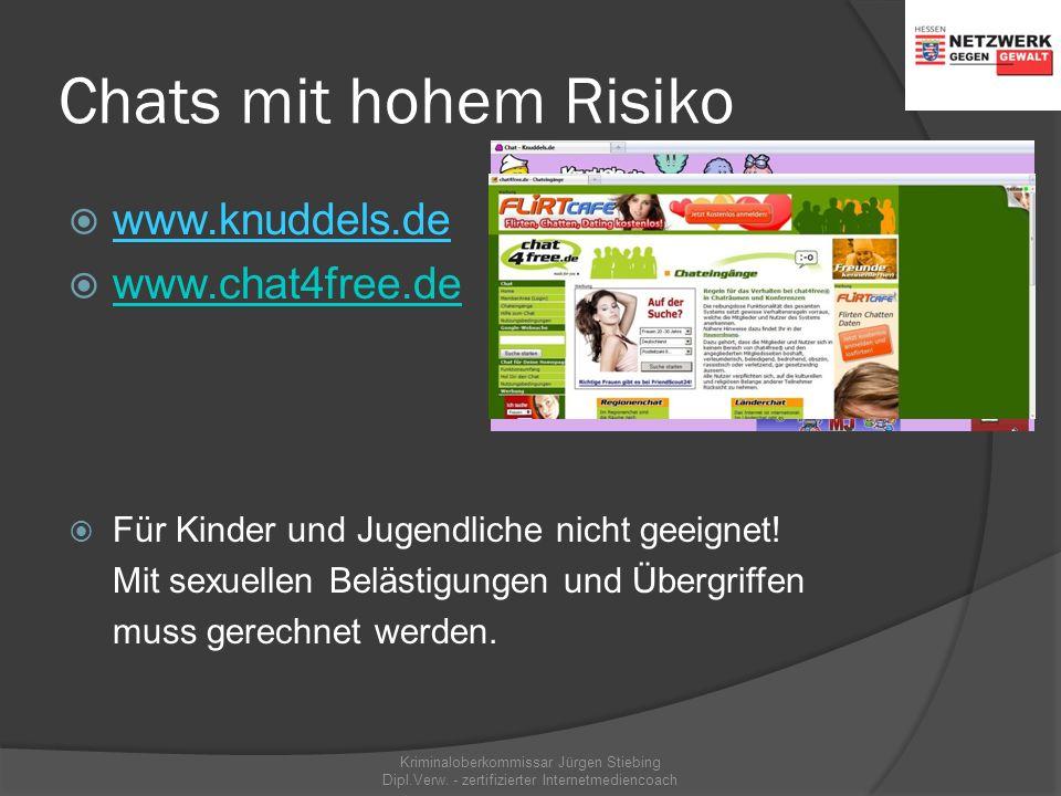 Beispiele für sichere Chats = Moderation/Paten & Sicherheitsregeln vorhanden Kriminaloberkommissar Jürgen Stiebing Dipl.Verw. - zertifizierter Interne