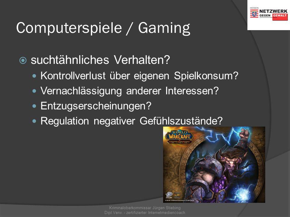 Kriminaloberkommissar Jürgen Stiebing Dipl.Verw. - zertifizierter Internetmediencoach