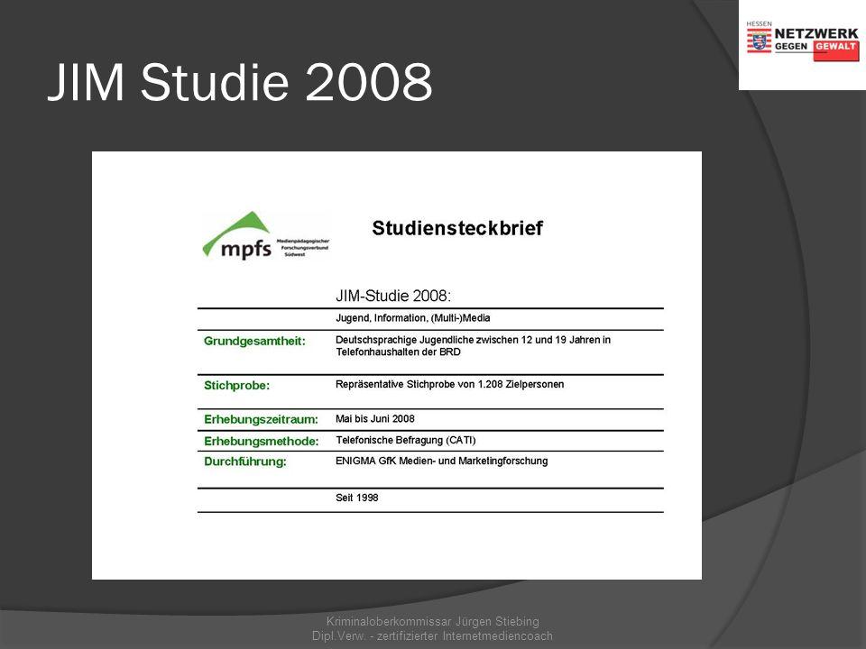 KIM Studie 2008 Kriminaloberkommissar Jürgen Stiebing Dipl.Verw. - zertifizierter Internetmediencoach