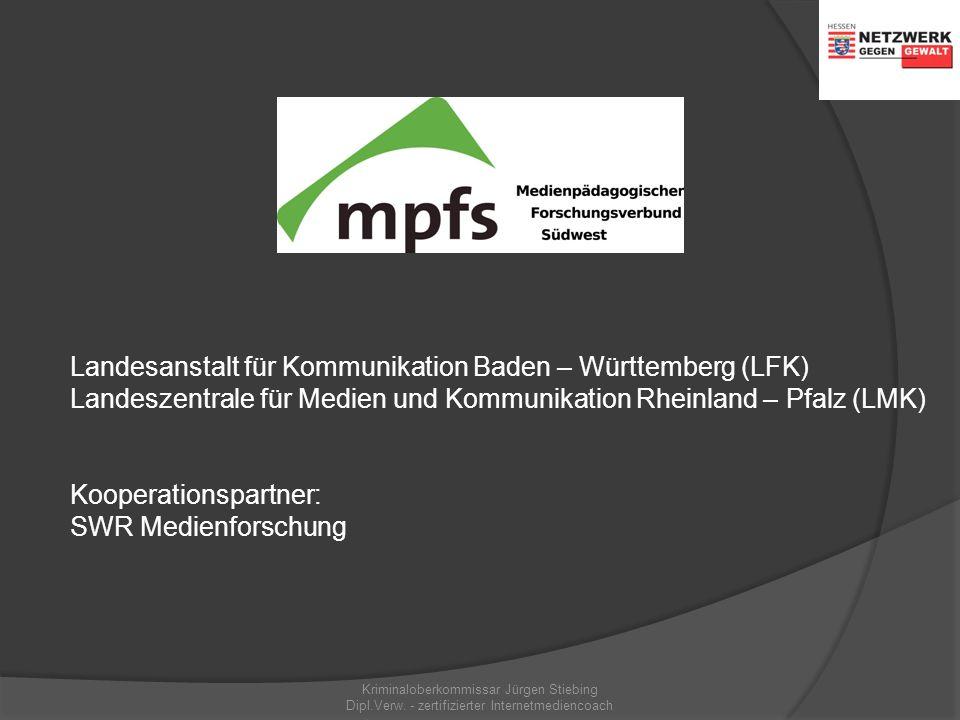 JIM Studie 2008 Kriminaloberkommissar Jürgen Stiebing Dipl.Verw. - zertifizierter Internetmediencoach