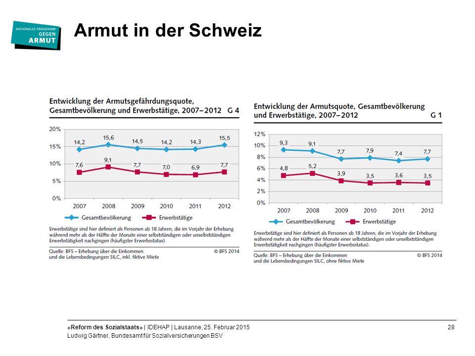 28«Reform des Sozialstaats» | IDEHAP | Lausanne, 25.
