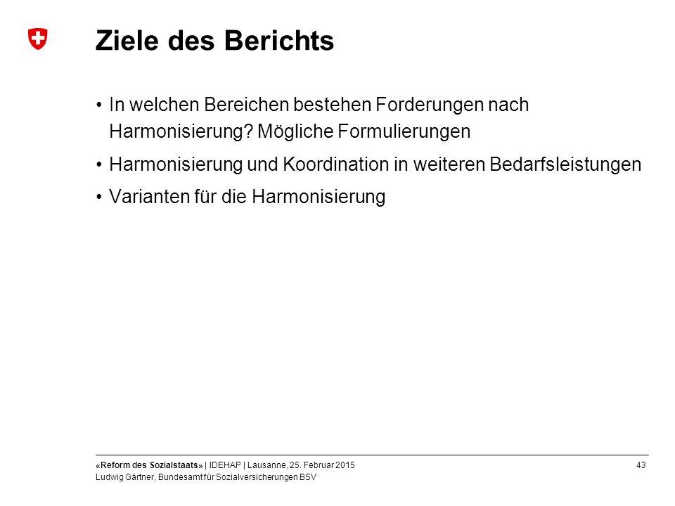 43«Reform des Sozialstaats» | IDEHAP | Lausanne, 25.