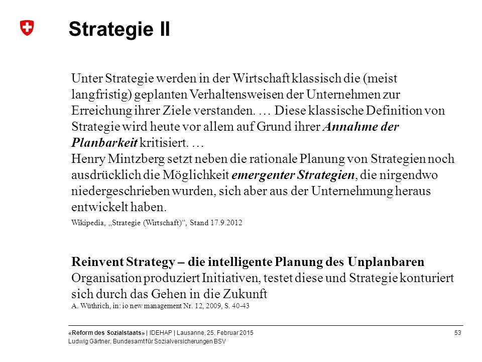 53«Reform des Sozialstaats» | IDEHAP | Lausanne, 25.