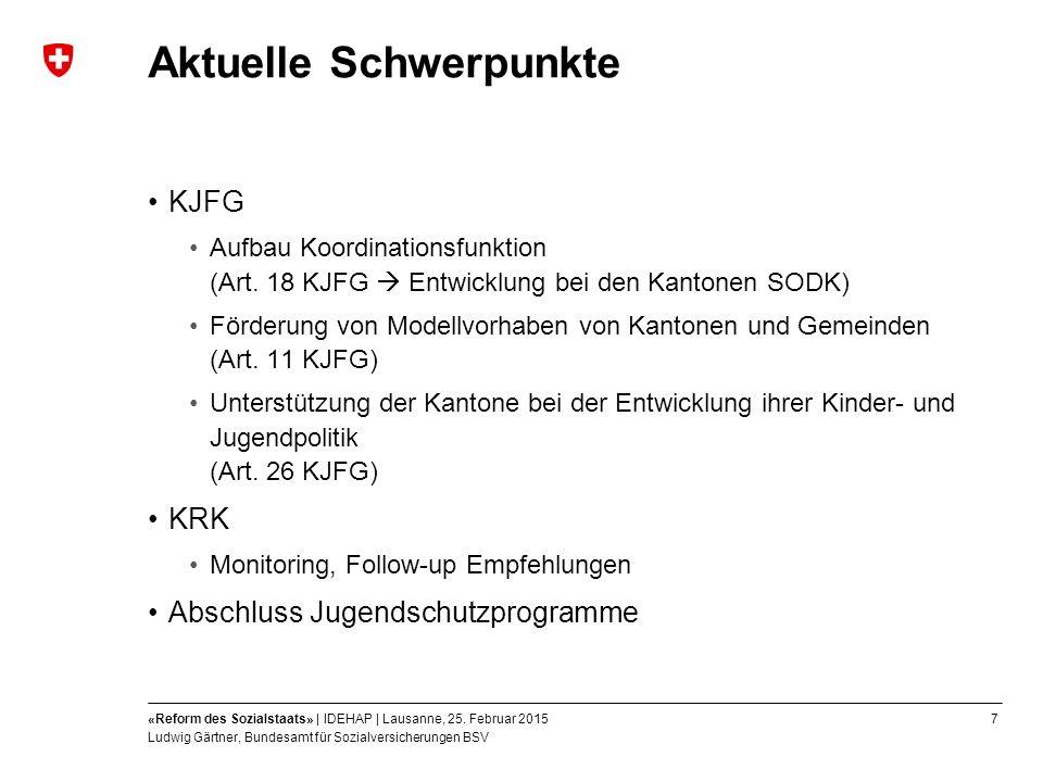 7«Reform des Sozialstaats» | IDEHAP | Lausanne, 25.