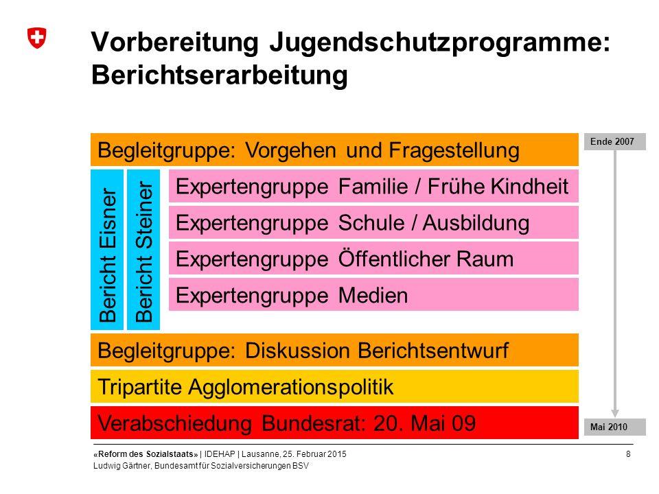 8«Reform des Sozialstaats» | IDEHAP | Lausanne, 25.