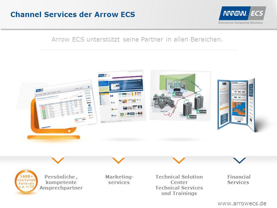 www.arrowecs.de Channel Services der Arrow ECS Arrow ECS unterstützt seine Partner in allen Bereichen.