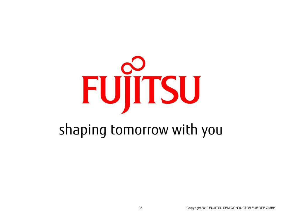 FUJITSU CONFIDENTIAL Copyright 2012 FUJITSU SEMICONDUCTOR EUROPE GMBH 25