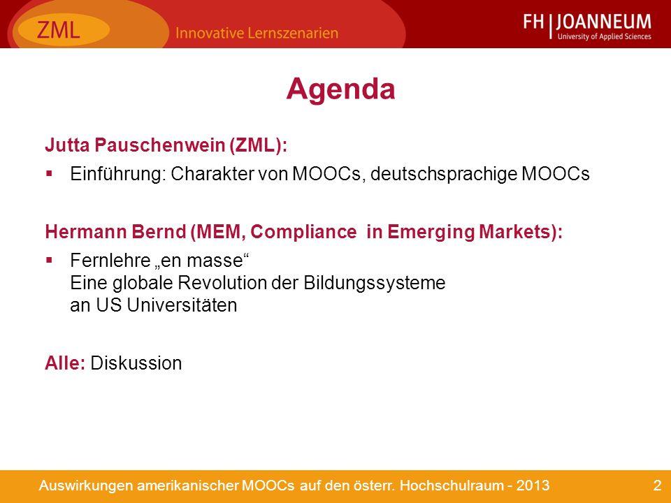3Auswirkungen amerikanischer MOOCs auf den österr.