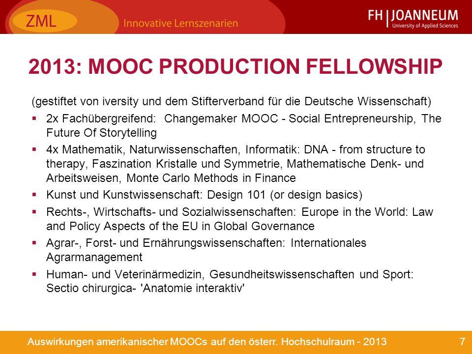 7Auswirkungen amerikanischer MOOCs auf den österr.