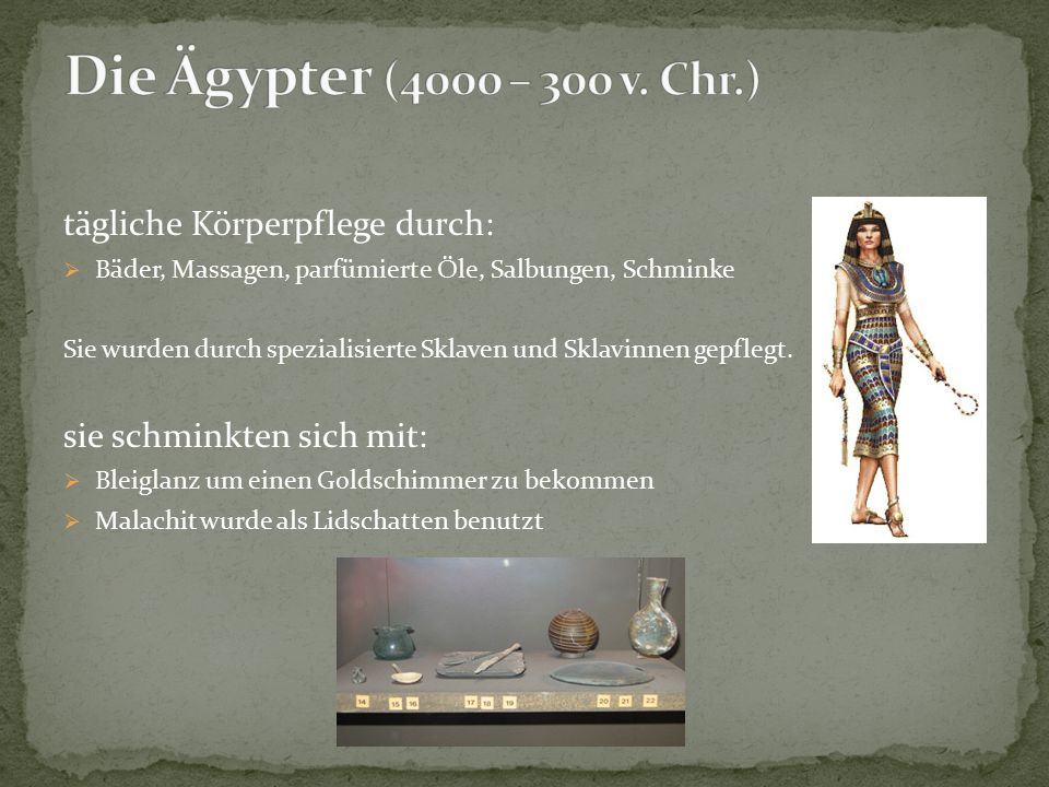 Sie übernahmen die Kenntnisse und Erfahrungen der Ägypter.