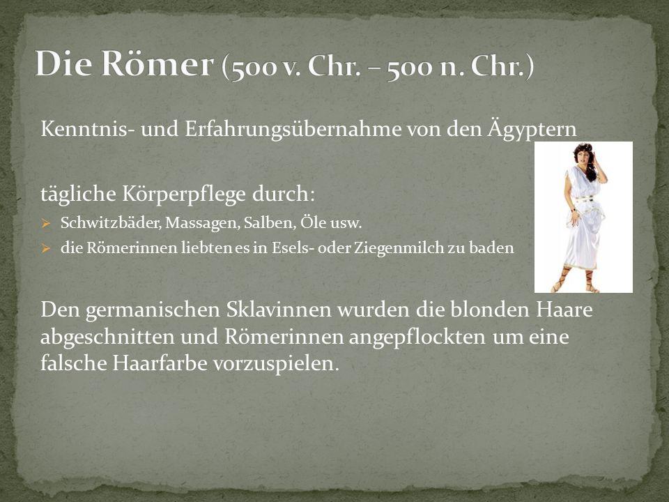  es gibt keine genaue Überlieferung über die Kosmetik der Germanen  Sie badeten in Flüssen