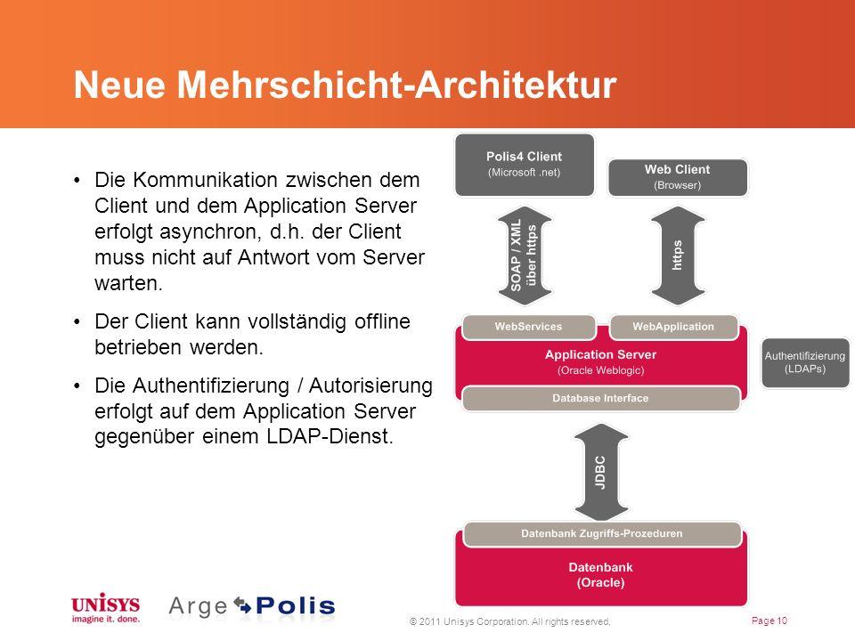 Neue Mehrschicht-Architektur Die Kommunikation zwischen dem Client und dem Application Server erfolgt asynchron, d.h.