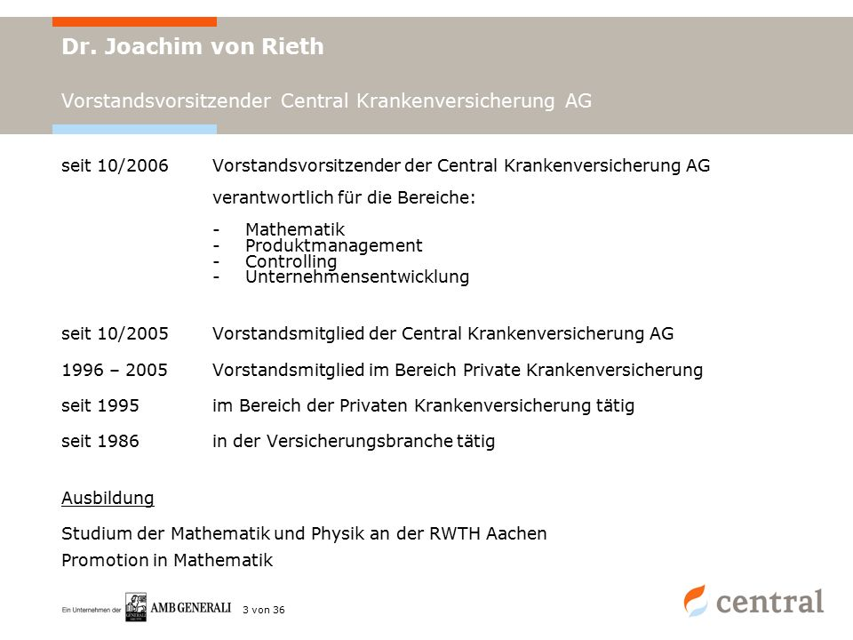 Dr. J. von Rieth | 24.04.2008 | Seite 3 von 36 Dr.