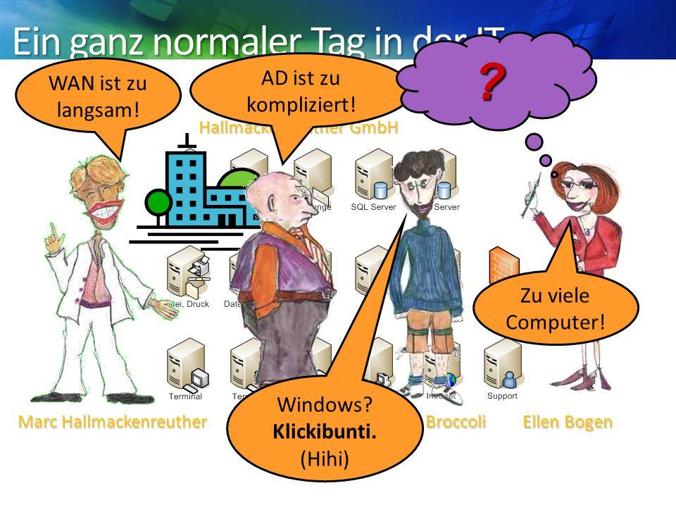 Ellen Bogen Ein ganz normaler Tag in der IT Hallmackenreuther GmbH AD ist zu kompliziert.