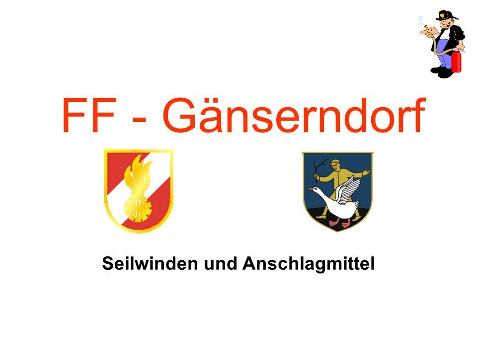 FF - Gänserndorf Seilwinden und Anschlagmittel