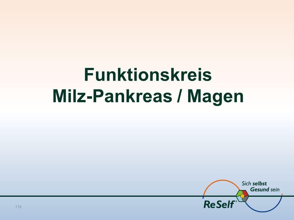 Funktionskreis Milz-Pankreas / Magen 119