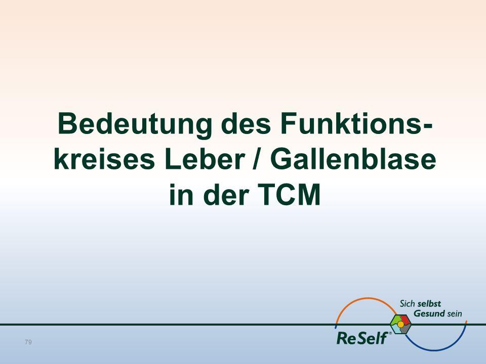 Bedeutung des Funktions- kreises Leber / Gallenblase in der TCM 79