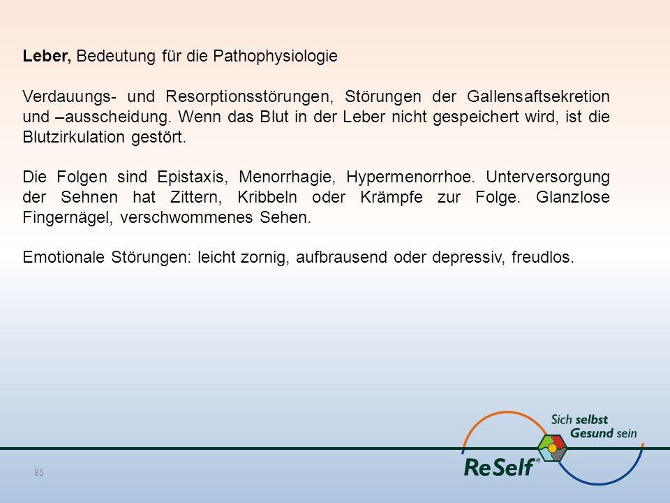 Leber, Bedeutung für die Pathophysiologie Verdauungs- und Resorptionsstörungen, Störungen der Gallensaftsekretion und –ausscheidung.
