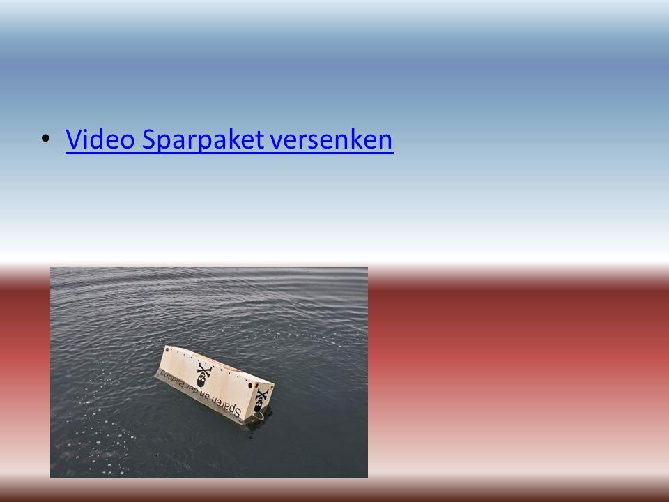 Video Sparpaket versenken
