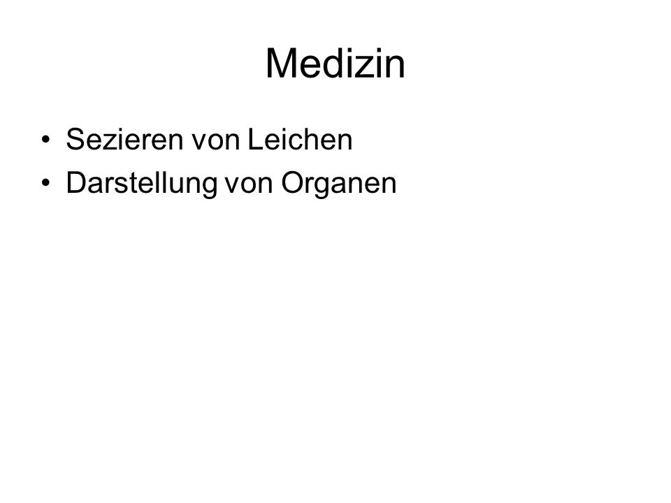 Medizin Sezieren von Leichen Darstellung von Organen