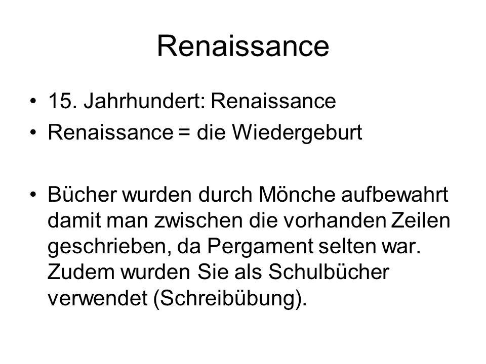 Renaissance 15.