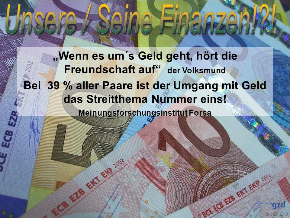  GZD 2013 Über Geld spricht man nicht! Oder doch?