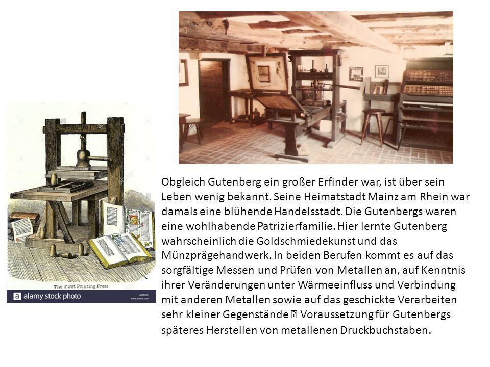 1428 ging Gutenberg für zwanzig Jahre nach Straßburg.