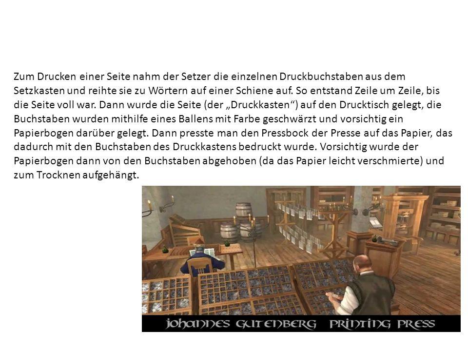 Wir ahnen nicht, mit welcher Mühe und Ausdauer (und welchem Können) Gutenberg an seiner Erfindung gearbeitet hat.