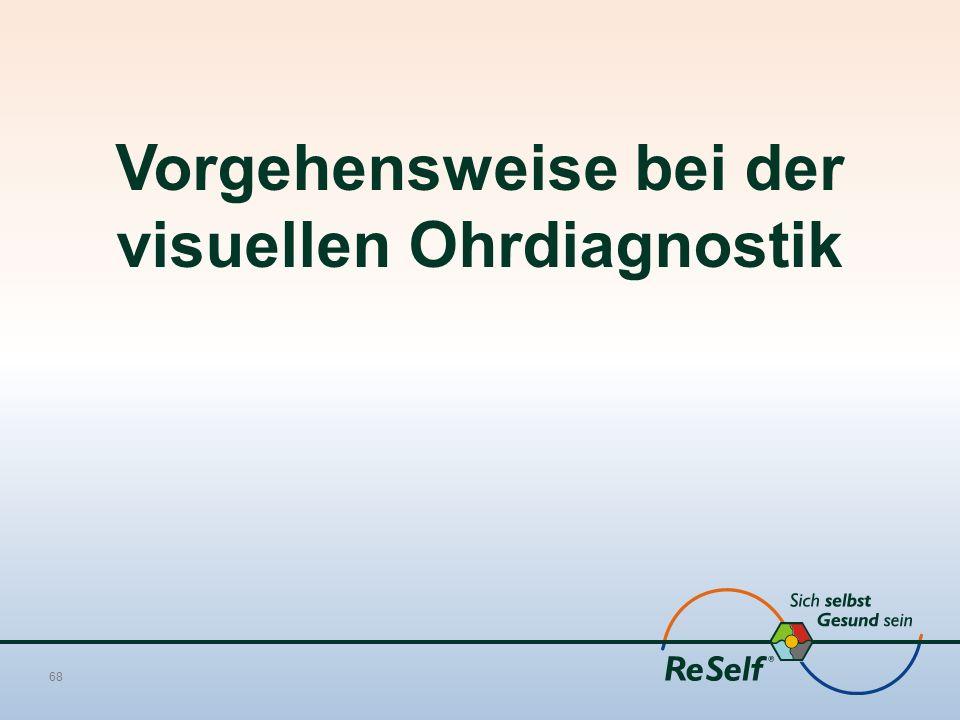 68 Vorgehensweise bei der visuellen Ohrdiagnostik