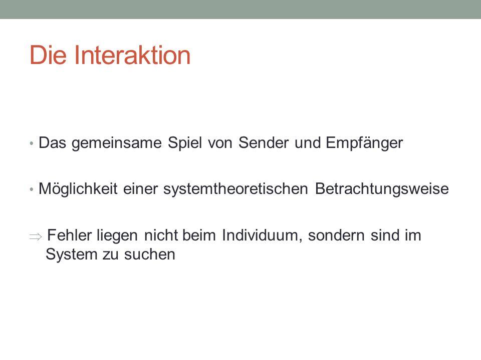 Probleme der Kommunikation (X) Interpunktion, oder: Wer hat angefangen.