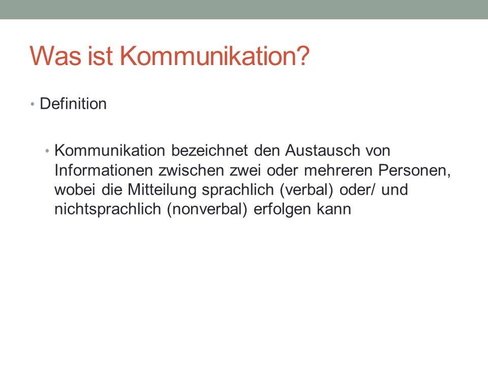 Was ist Kommunikation? (II) Sender-Nachricht-Empfänger-Modell Sender Empfänger Nachricht