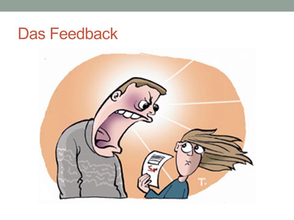 """Das Feedback Der Empfangsprozess: Wahrnehmen Interpretieren Fühlen Reaktion des Empfängers: Das Feedback -Das Feedback als """"psychochemische Reaktion -Selbstverantwortung des Empfängers für seine Reaktion"""