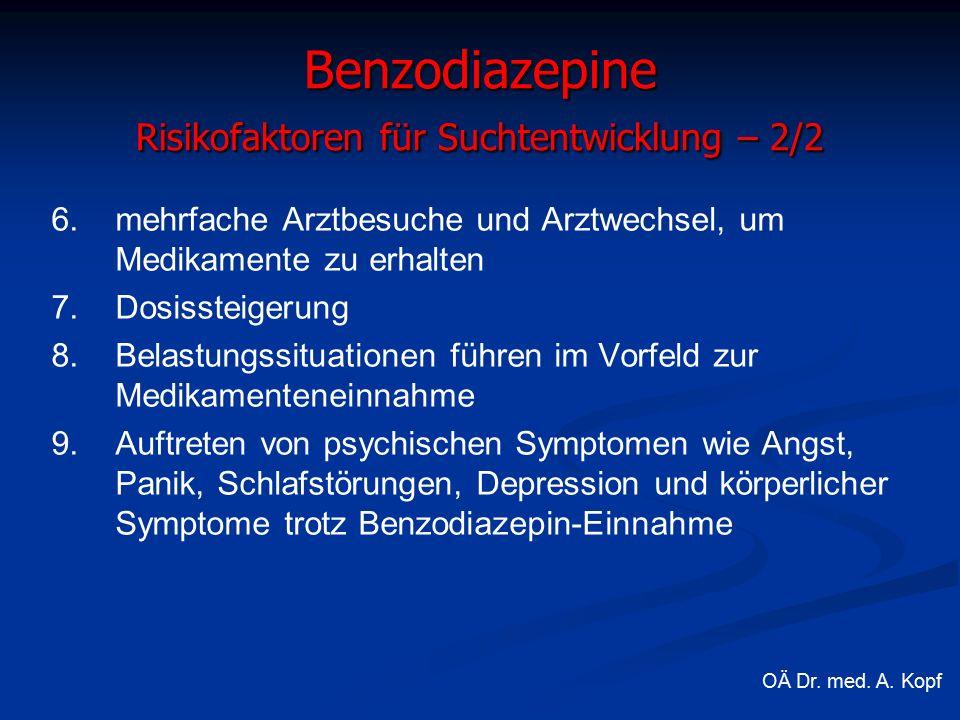 6. 6.mehrfache Arztbesuche und Arztwechsel, um Medikamente zu erhalten 7.