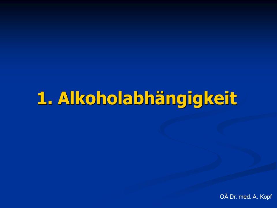 1. Alkoholabhängigkeit OÄ Dr. med. A. Kopf