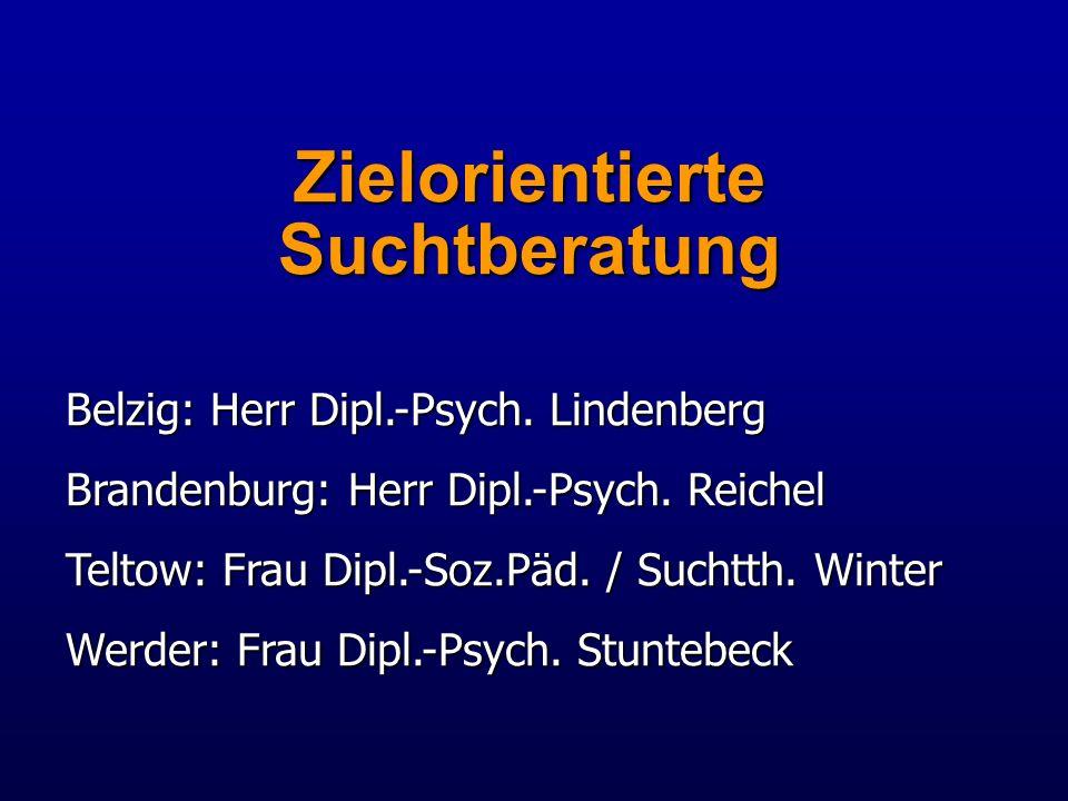 Zielorientierte Suchtberatung Belzig: Herr Dipl.-Psych.
