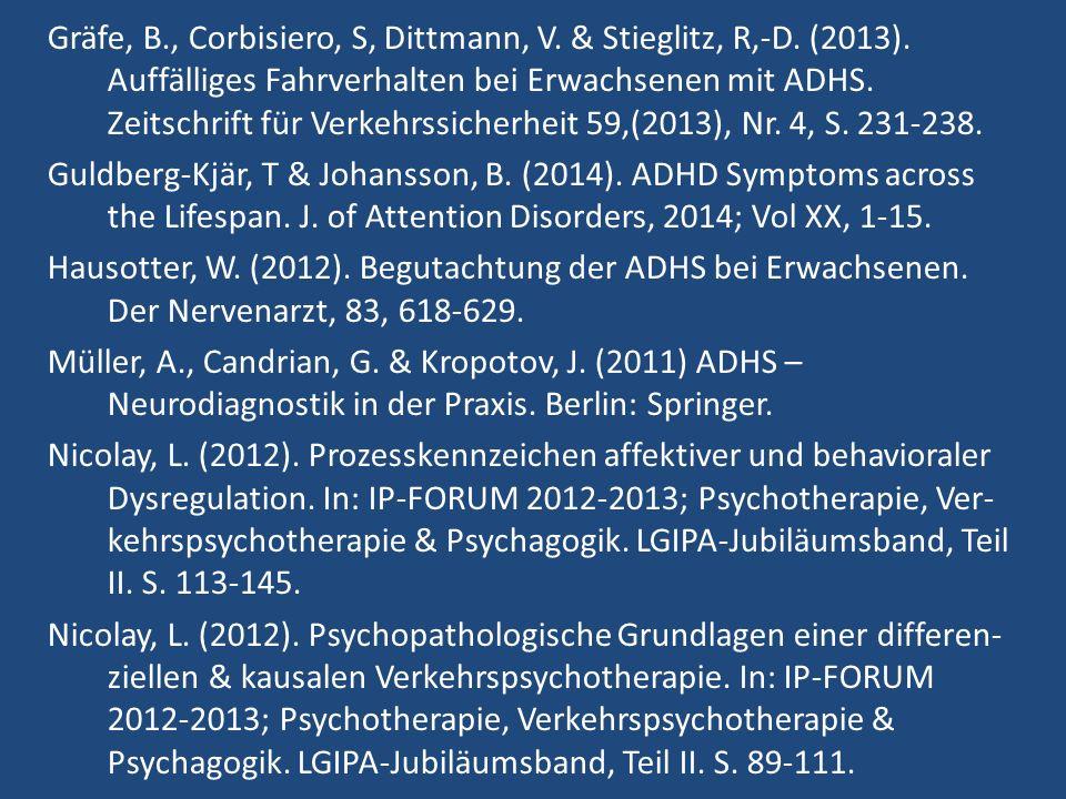 Gräfe, B., Corbisiero, S, Dittmann, V. & Stieglitz, R,-D.