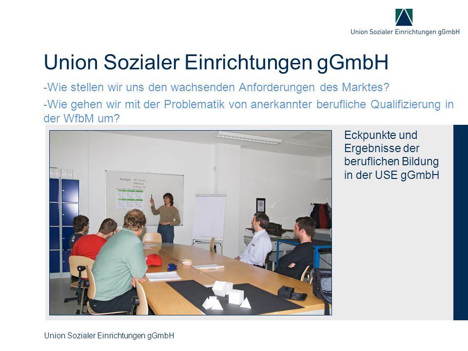 Union Sozialer Einrichtungen gGmbH -Wie stellen wir uns den wachsenden Anforderungen des Marktes? -Wie gehen wir mit der Problematik von anerkannter b