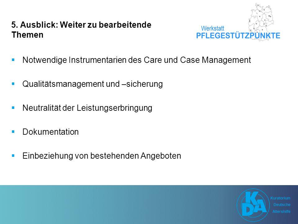 Kuratorium Deutsche Altershilfe Kuratorium Deutsche Altershilfe 5.