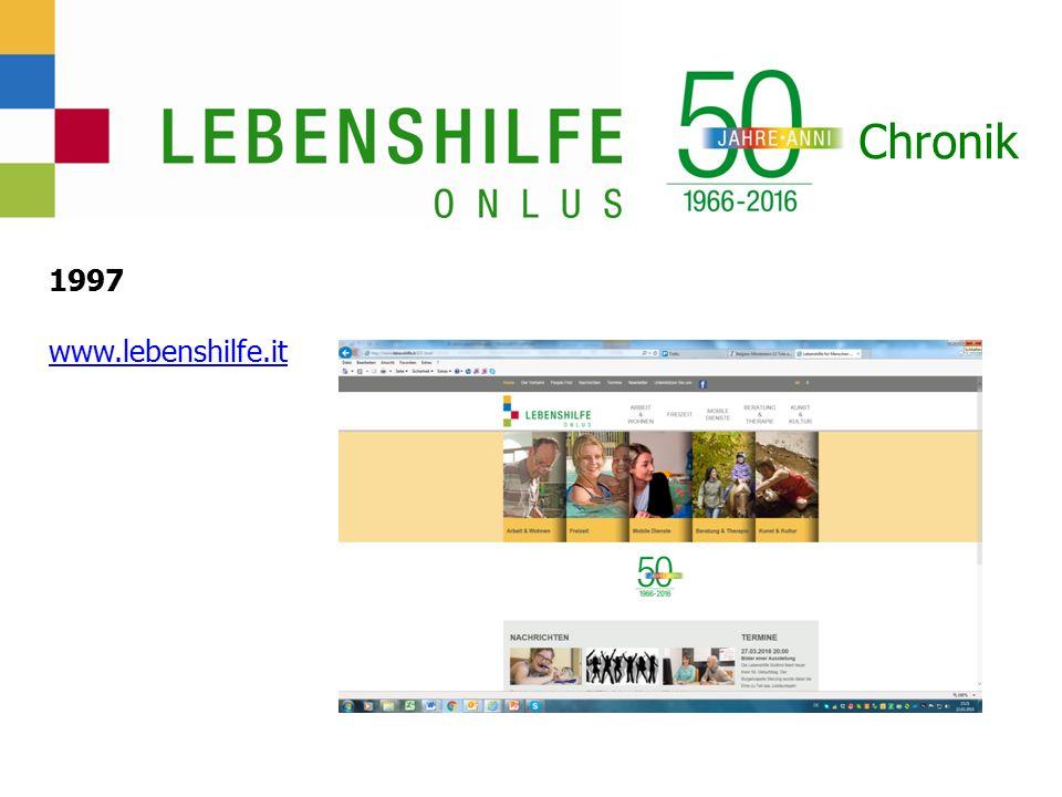 Chronik 1997 www.lebenshilfe.it