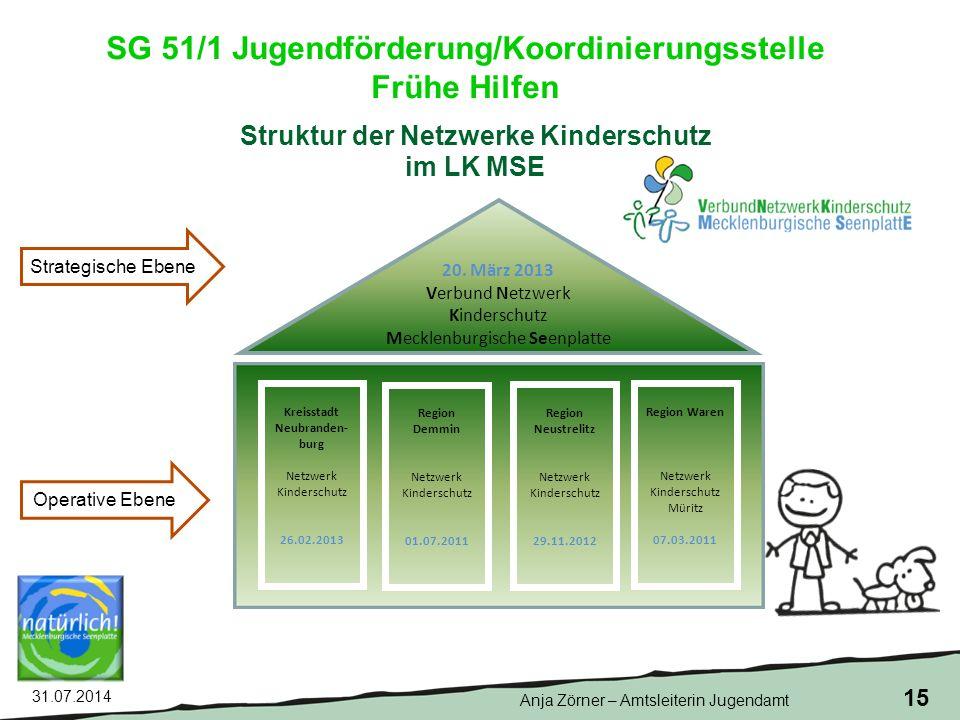 31.07.2014 15 Struktur der Netzwerke Kinderschutz im LK MSE 20.