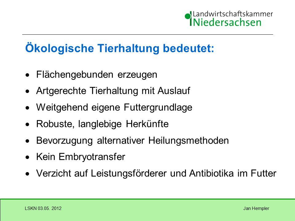 Jan HemplerLSKN 03.05. 2012 Ökologischer Pflanzenbau Verwendung ökologisch vermehrten Saatgutes (www.organicXseeds.de) Weite, vielseitige Fruchtfolgen