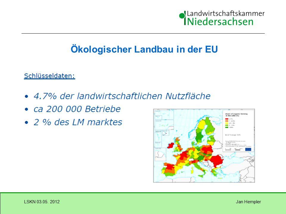 Jan HemplerLSKN 03.05. 2012 Entwicklung Ökologischer Landbau in Deutschland