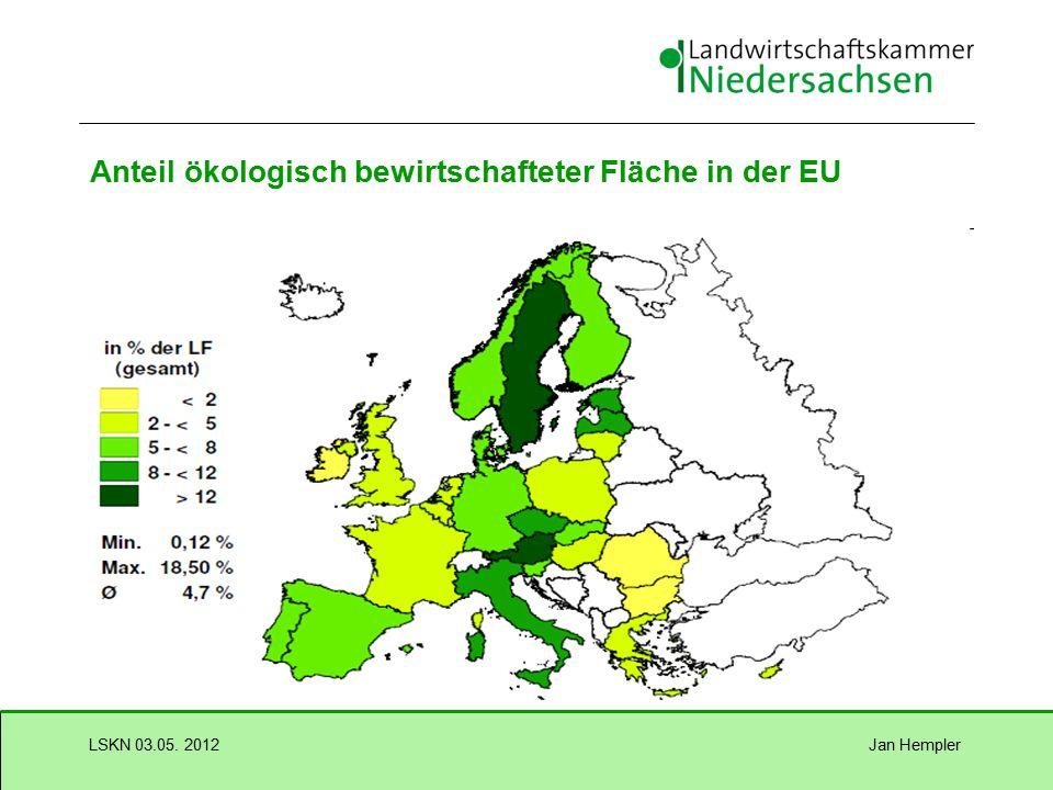 Jan HemplerLSKN 03.05. 2012 Ökologischer Landbau in der EU