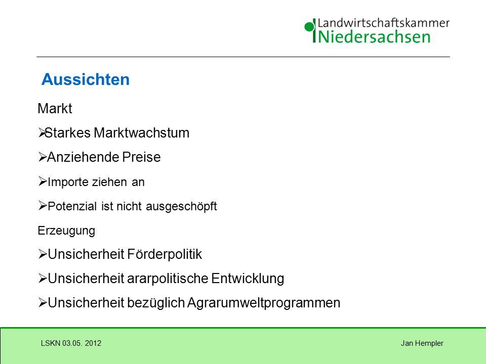 Jan HemplerLSKN 03.05. 2012 Aussichten