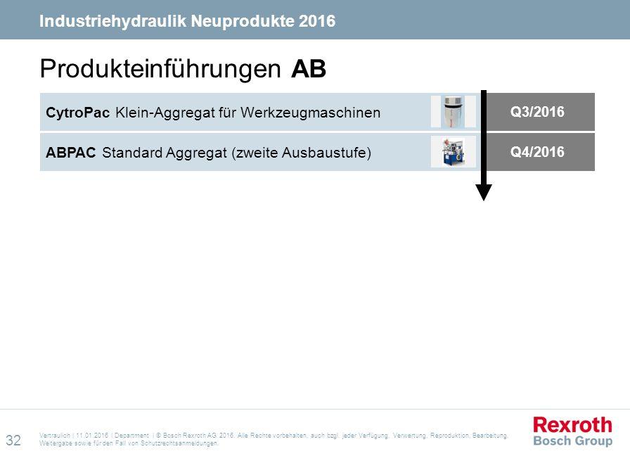 Vertraulich | 11.01.2016 | Department | © Bosch Rexroth AG 2016.