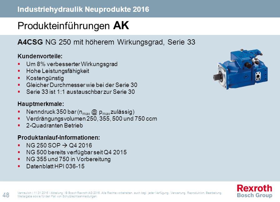 Vertraulich | 11.01.2016 | Abteilung | © Bosch Rexroth AG 2016. Alle Rechte vorbehalten, auch bzgl. jeder Verfügung, Verwertung, Reproduktion, Bearbei