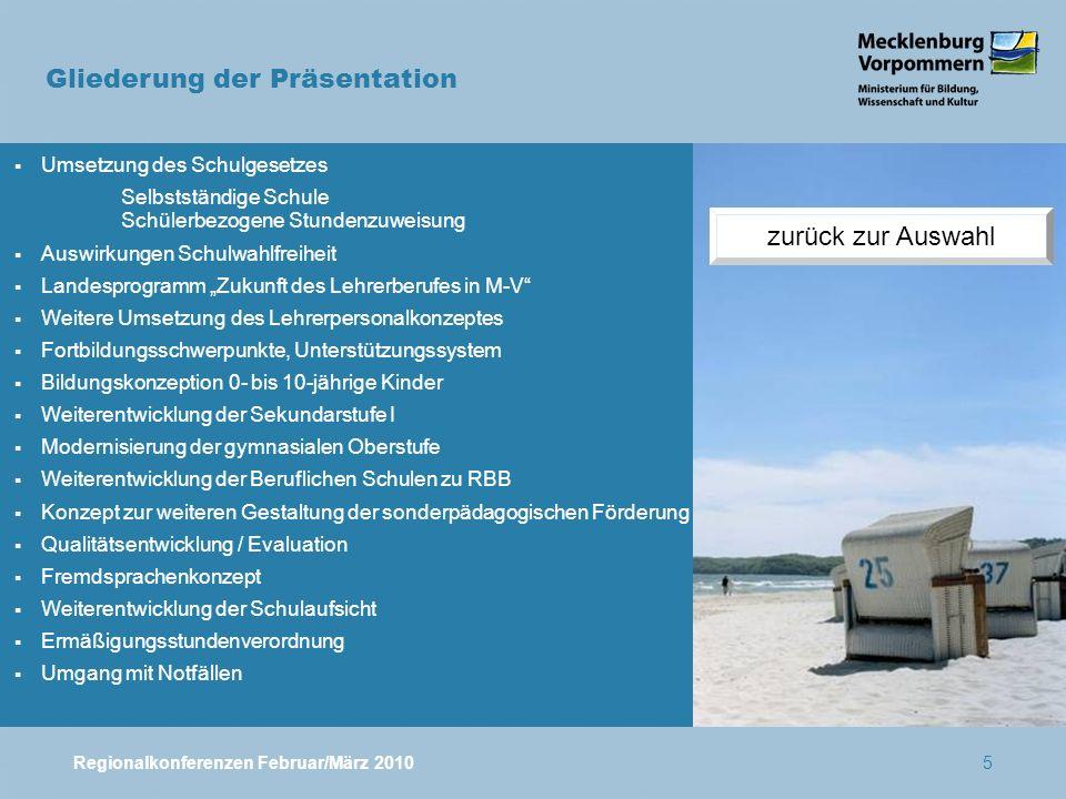 Regionalkonferenzen Februar/März 201046 Phasen und Teilziele des Projekts 1.