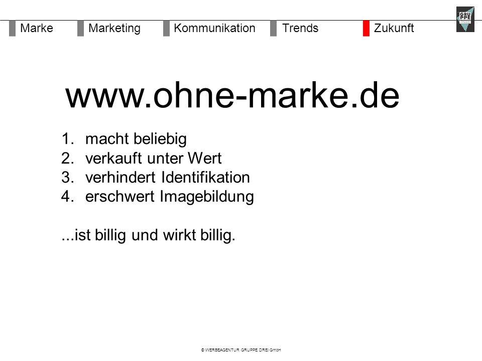 © WERBEAGENTUR GRUPPE DREI GmbH 1. macht beliebig 2.