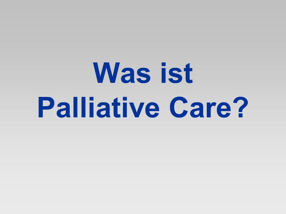 In einer Welt, die so viel Wert auf Sicherheit legt, verkündet Palliative Care, dass der Mensch mit Unsicherheit leben und geradezu aufblühen kann… Derek Doyle 2004
