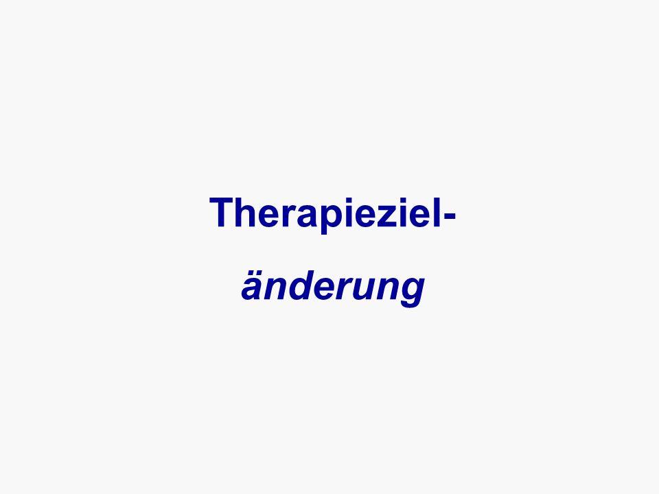 Therapieziel- änderung